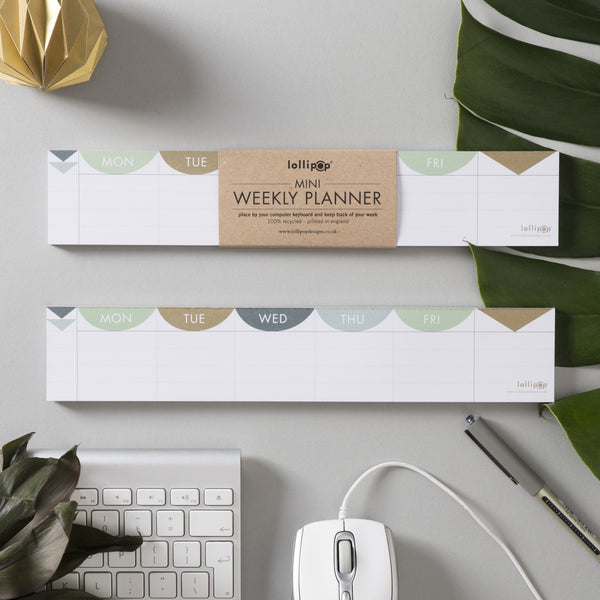 Mini 'keyboard' Weekly Planner : Matt Gold