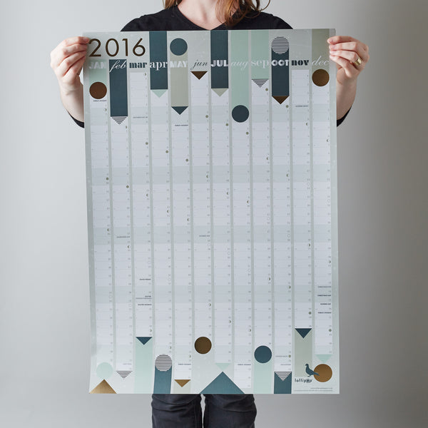 2017 Year Planner : Gold Foil