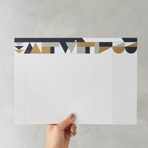 Weekly Planner Pad : Gold (Vertical)