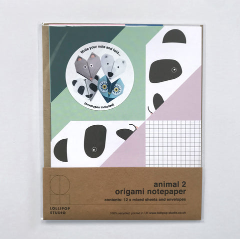 Origami Notepaper Set : Animal Selection 2
