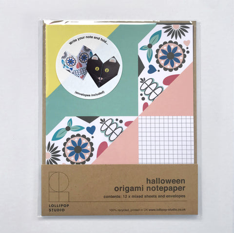 Origami Notepaper Set : Halloween