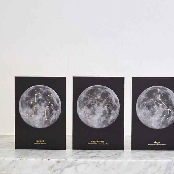 Zodiac Star Sign/Moon Constellation Cards (12 designs)