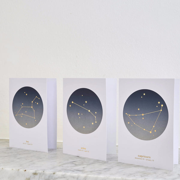 Constellation Star Sign Cards : Boxed Set of 12