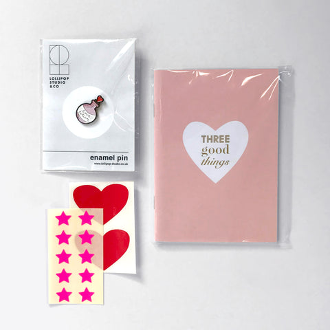Lollipop x Maggie's Bundle : Notebook & Pin