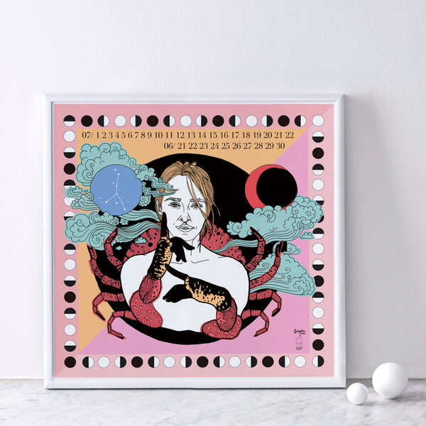 Sophie Ward x Lollipop Zodiac Print : Cancer