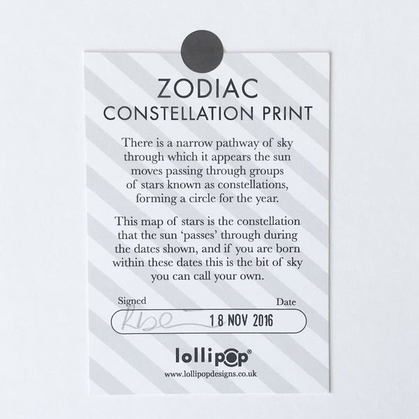 Personalised Couples Print : Zodiac Constellations