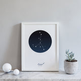 Personalised Star Sign Print : Zodiac Constellations - Individual
