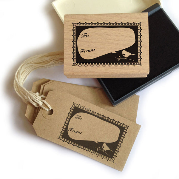 Bird Gift Tag Stamp + Ink + Tags