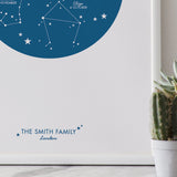 Personalised Family Print : Zodiac Constellations