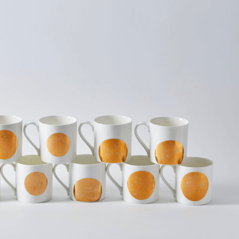 Almost perfect : Gold Zodiac Constellation Mugs (12 Designs)