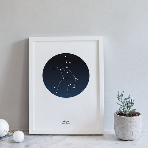 Star Sign Print : Zodiac Constellation