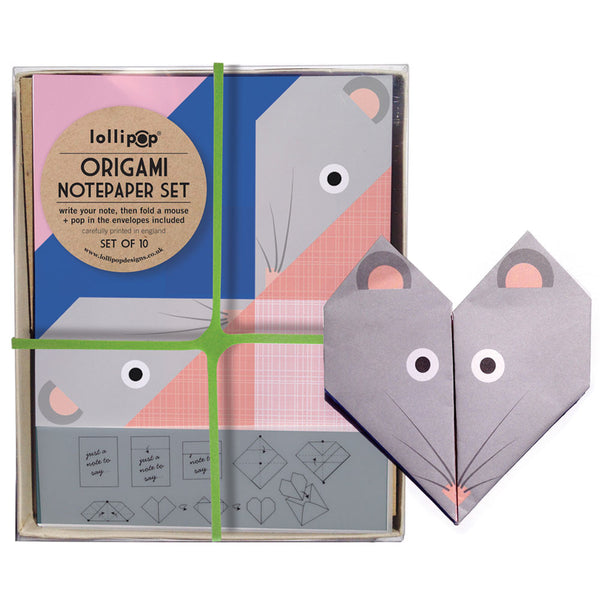 Origami Notepaper Set : Mouse