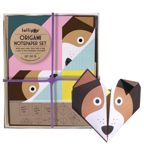 Origami Notepaper Set: Dog