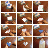 Origami Notepaper Set : Geometric Hearts