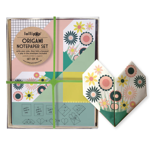 Origami Notepaper Set : Floral Bouquet