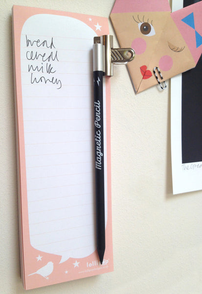 Magnetic Notepad + Pencil : List