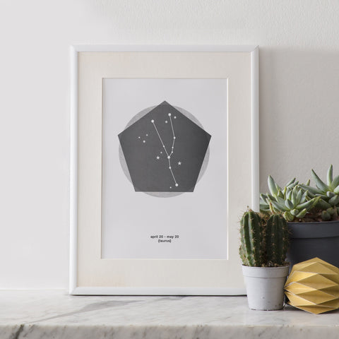 A5 Constellation Prints : Zodiac Star Signs (12 Designs)