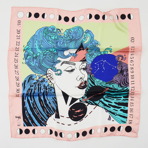 Sophie Ward x Lollipop Silk Scarf : Aquarius