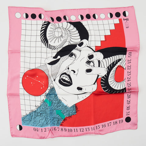 Sophie Ward x Lollipop Silk Scarf : Aries