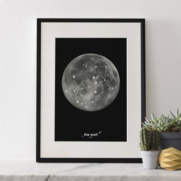 Constellation Print : The Wolf