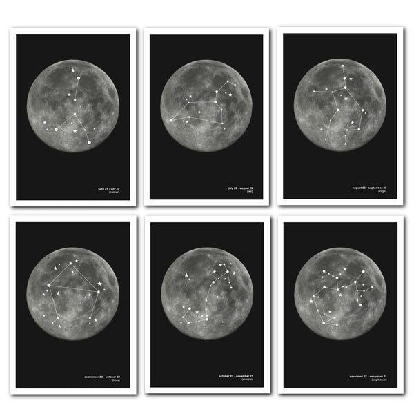 Constellation Prints : Zodiac Star Signs (12 Designs)