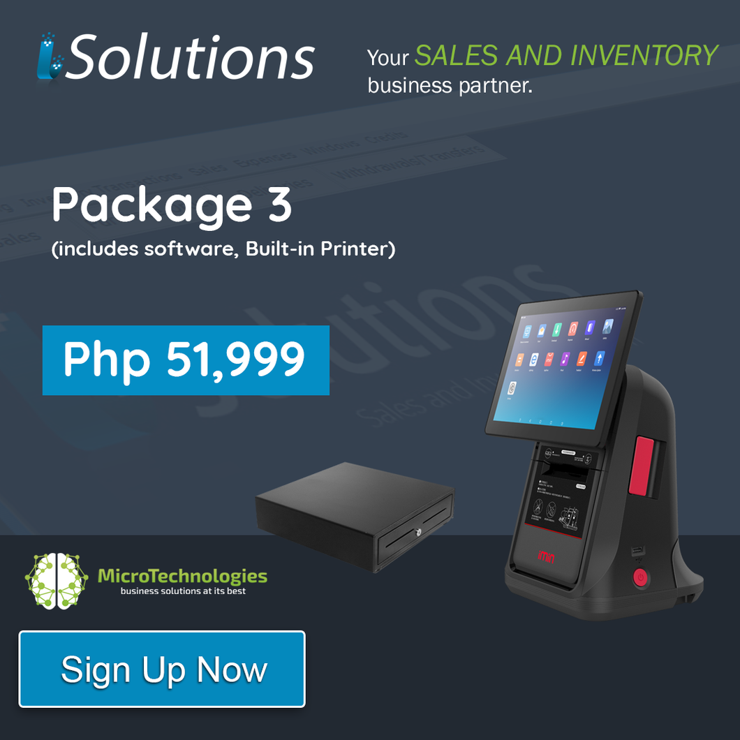 iSolutions POS Package 3