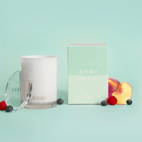 Keri Luxury Soy Candle Boutique 280g Jar Peach & Berry Fig