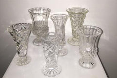 Crystal Vases Assorted