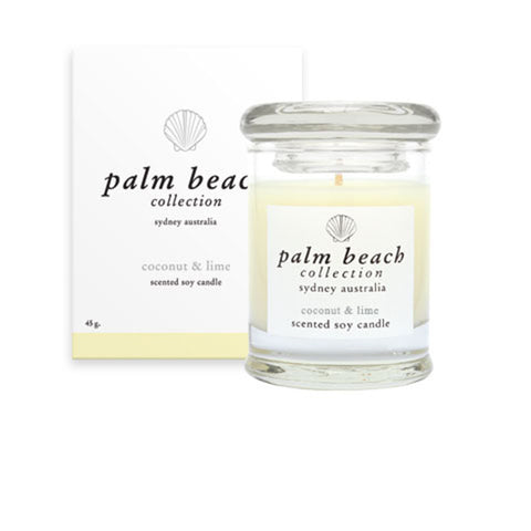 Palm Beach, Mini Coconut & Lime Scented Soy Candle