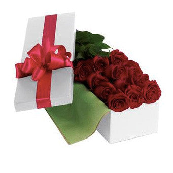 6, 12, 18 or 24 Beautifully Boxed Red Roses