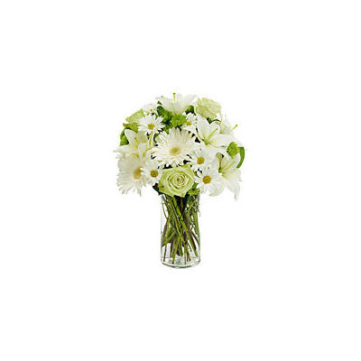 Classic White and Green in a Vase