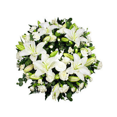 Funeral Wreath - White Lily