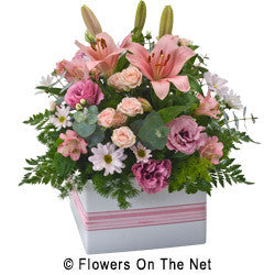 Large Pink Arrangement in a Box