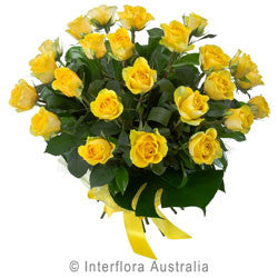Large Yellow Rose Bouquet