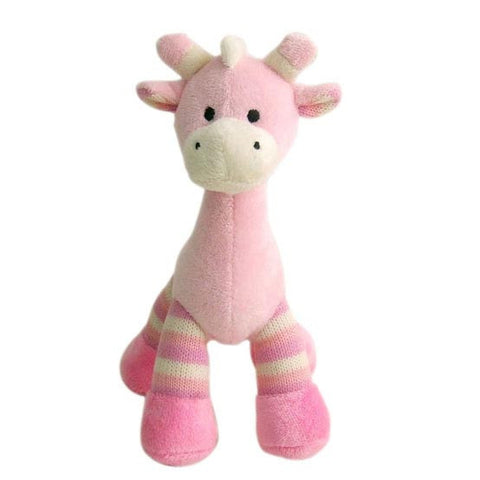 Teddy Time Pink Giraffe Rattle - Baby Girl