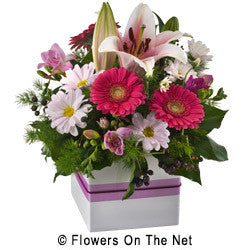 Pink Mixed Flower in a Box