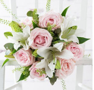 Pink Sorbet Roses & Lilies Bouquet