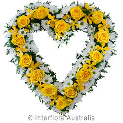 Heartfelt Yellow Flower Heart