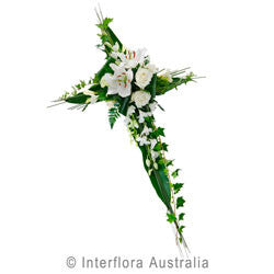 In Memorium Informal Flower Cross