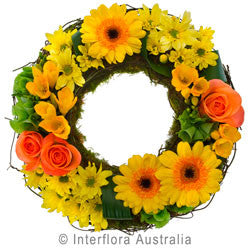 Yellow Flower Contemplation Wreath