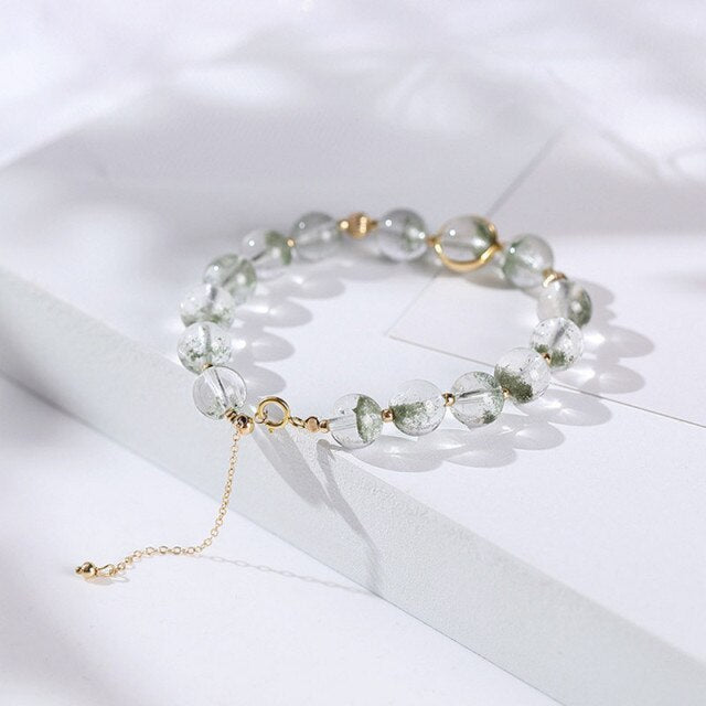 Bracelet Pierre de Lune Eventail Transparent