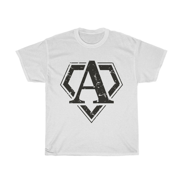 T-shirt in stile SUPERMAN,  with letter logo A. Unisex Heavy Cotton Tee