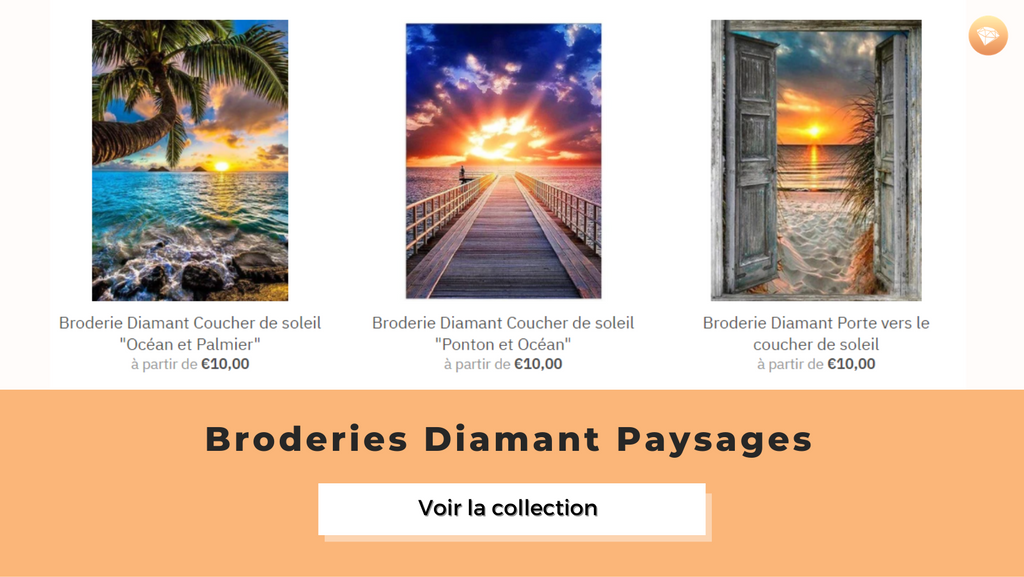 Broderie diamant paysages