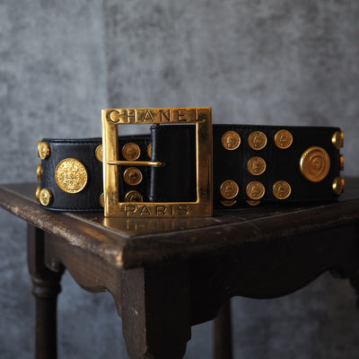 CHANEL Coin Motif Belt