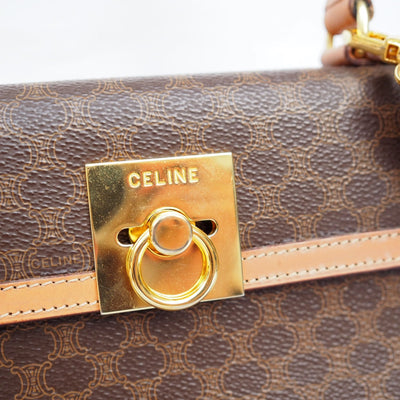 Celine Monogram Macadam Kelly 2way hand Shoulder Bag Authentic Vintage Classical