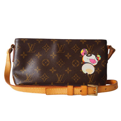 LOUIS VUITTON  Trotteur Panda Monogram Shoulder Bag Cross Body Vintage LV Authentic