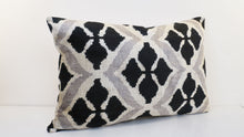 "Load image into Gallery viewer, Handmade Silk Ikat Velvet Pillow , 16"" x 24"""