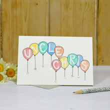 Load image into Gallery viewer, Sparkly Balloons Personalised Hand Illustrated Card