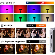 Load image into Gallery viewer, Konova Photography RGB LED Video Light  R190