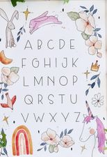 Bec Brown Alphabet Unicorn Print